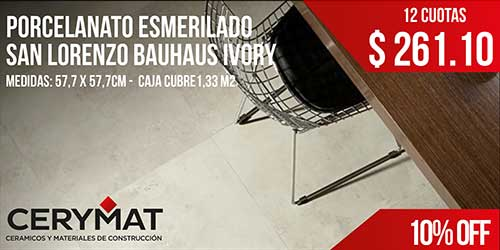 Porcelanato Esmerilado San Lorenzo Bauhaus Ivory 57,7 X 57,7