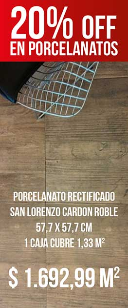 Porcelanato Rectificado San Lorenzo Cardon Roble 57,7 X 57,7 Cj. 1,33 M2