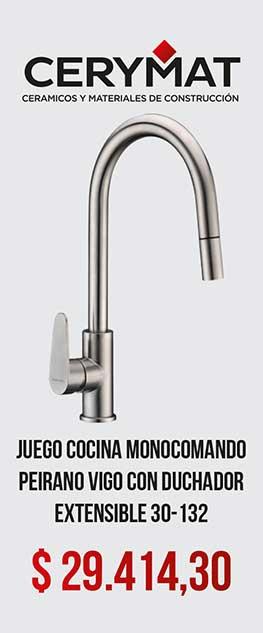 Juego Cocina Monocomando Peirano Vigo Con Duchador Extensible 30-132