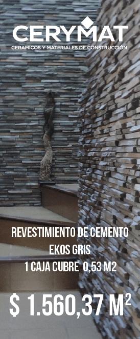 Revestimiento de cemento Ekos Gris Cj X 0,27 M2
