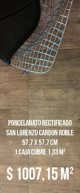 Porcelanato Rectificado San Lorenzo Cardon Roble