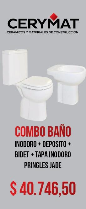 Combo Pringles Jade Inodoro Deposito Bidet Tapa
