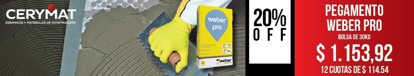 Pegamento Weber Pro x 30 Kg