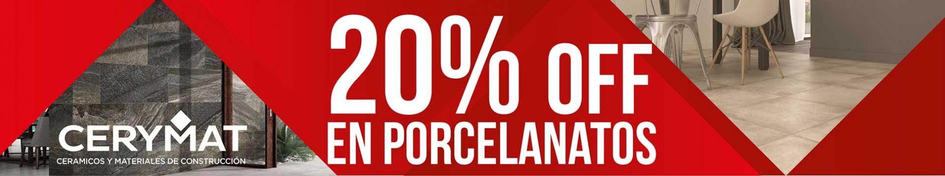 Porcelanatos 20% descuento