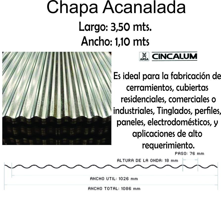 Chapa Cincalum  3,50 Mt