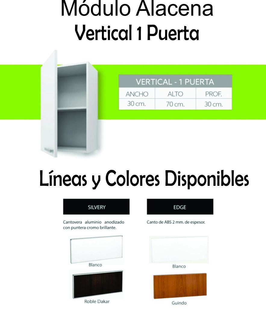 Alacena Itar Edge 30 cm Blanco