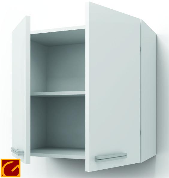 Alacena Itar Edge 0,80 2 Puertas Blanco