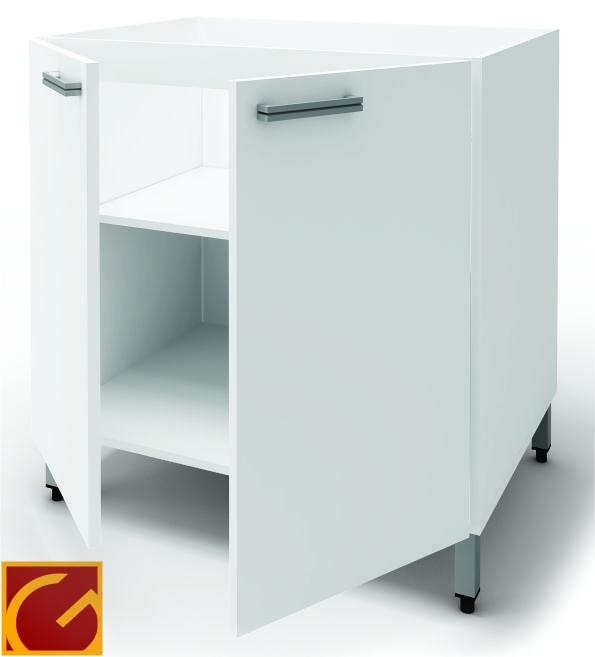 Bajo Mesada Itar Silvery 60 cm Blanco