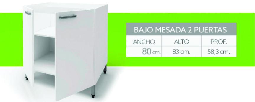 Bajo Mesada Itar Slim 80 cm Blanco