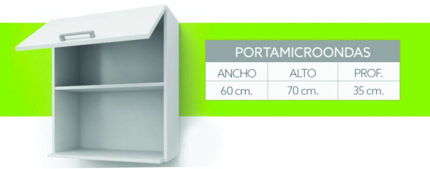 Alacena Porta Microondas Itar Silvery Blanco