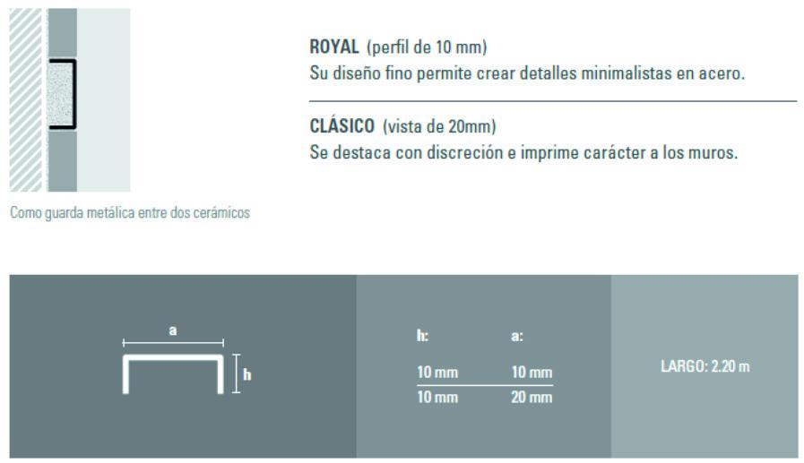 Varilla Listello Acero Atrim 430/01 Brillante 10 mm Royal