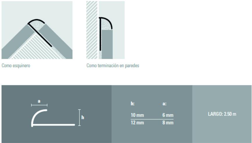 Guardacanto Arco 1381 Cromo Brillante x 2.50 m