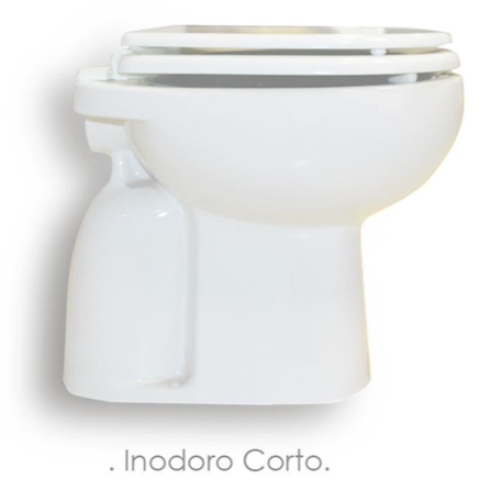 Inodoro Corto Pringles Linea Jade Blanco