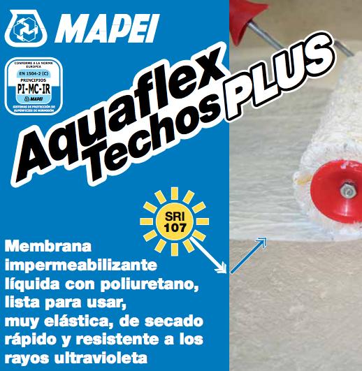 Membrana Liquida Mapei Aquaflex Techos Plus X 20 Kgs Rojo