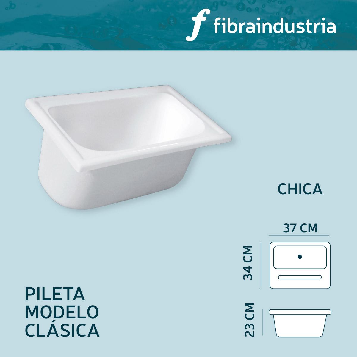 Pileta Fibraindustria Marmol Sintetico 34 X 37 Clasica Chica