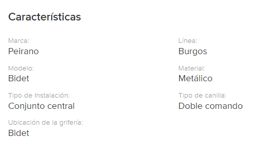 Juego Bidet Peirano Burgos 319 Cr.