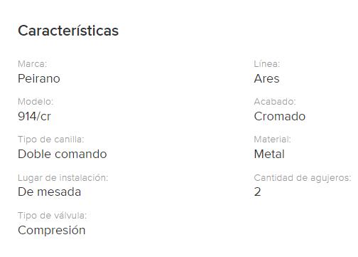 Juego Cocina  Mesada Peirano Ares 914/ Cr.