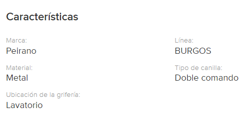 Juego Lavatorio Peirano Burgos 219 Cr.
