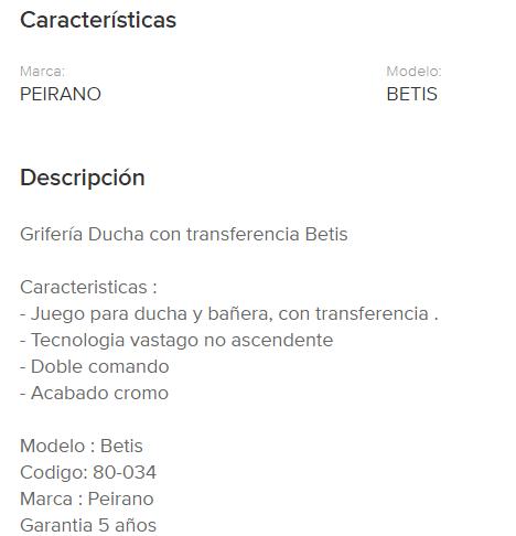 Juego Lluvia Con Transferencia Peirano Betis 80-034 Cr