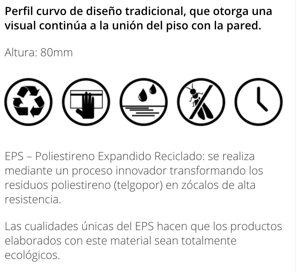 Zocalo Atrim Curves 80mm 2349 X 2,5 Mt Cacao