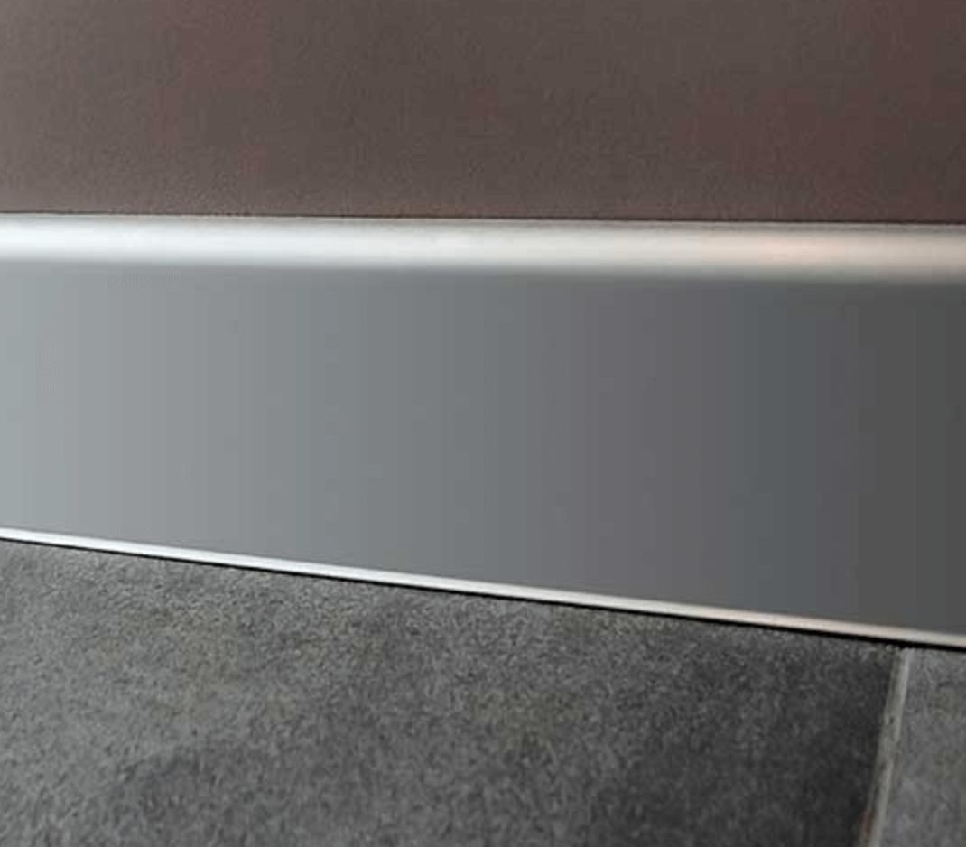 Zocalo Atrim Apolo Acero 80mmx12mm 2,5Mt Brillante 2208