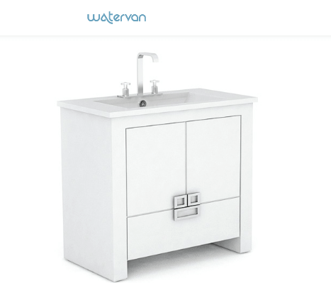 Vanitory Water Van City New 60 Con Mesada Loza Blanco