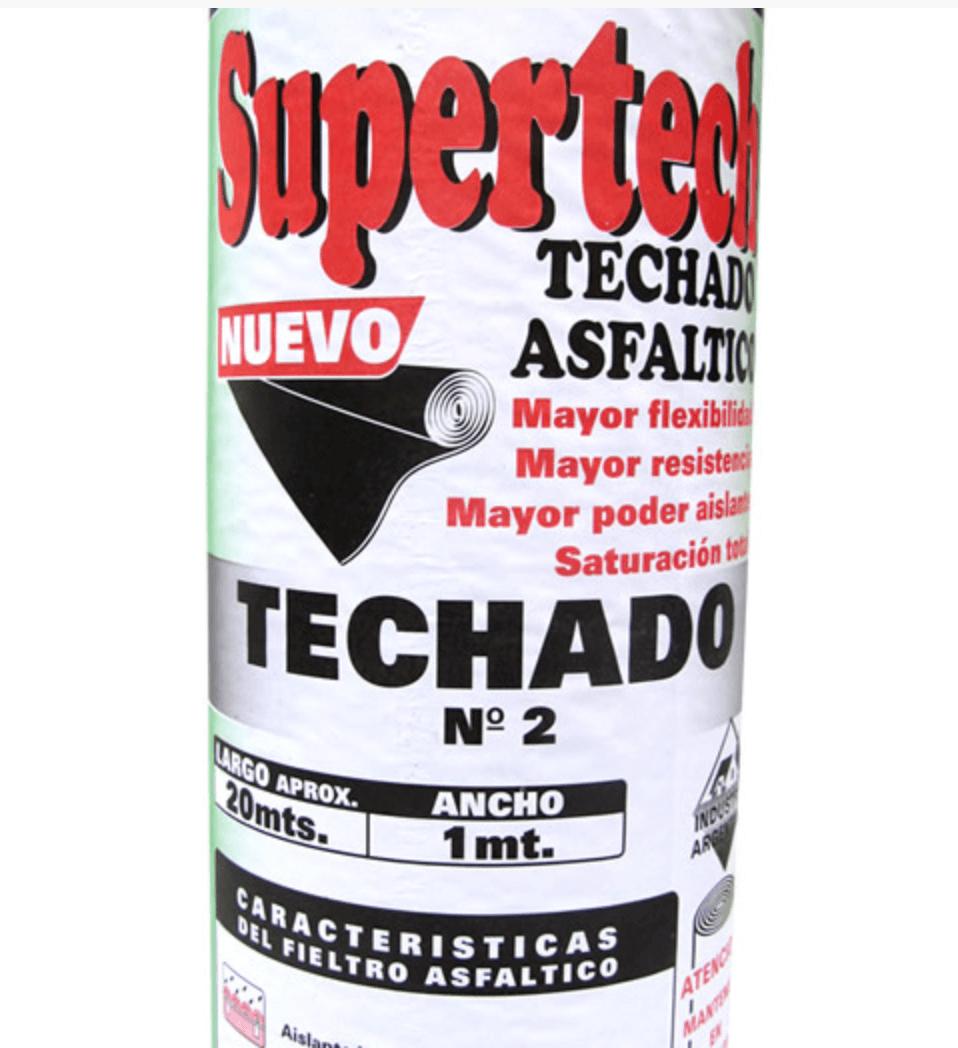 Fieltro Asfaltico Supertech Nro. 2 X 10 Mts