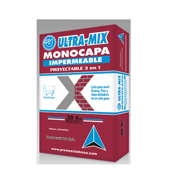 Mortero Ultra Mix Proyect. 3:1 Ext. X 30 Kg.