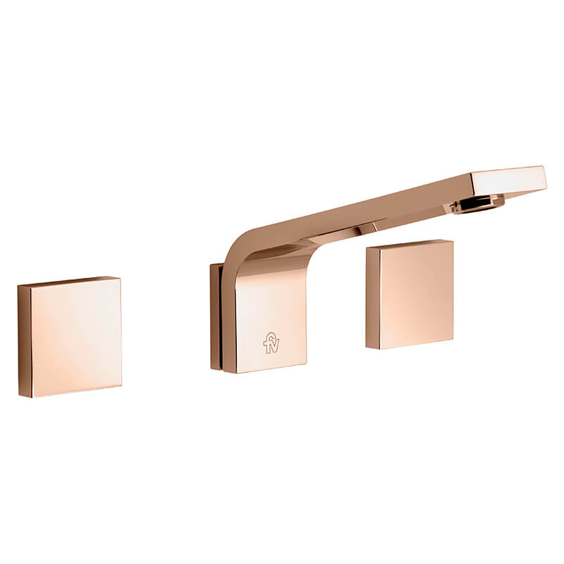 Juego Lavatorio Embutir Fv Chalten Rose Gold 203/H4