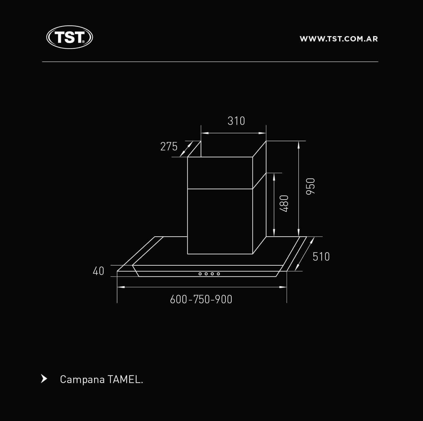 Campana TST Tamel 75 cm