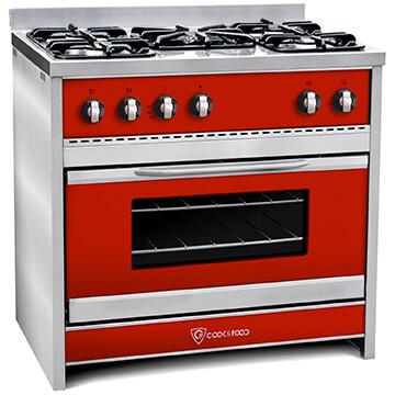 Cocina TST Chiara Rojo 90 cm