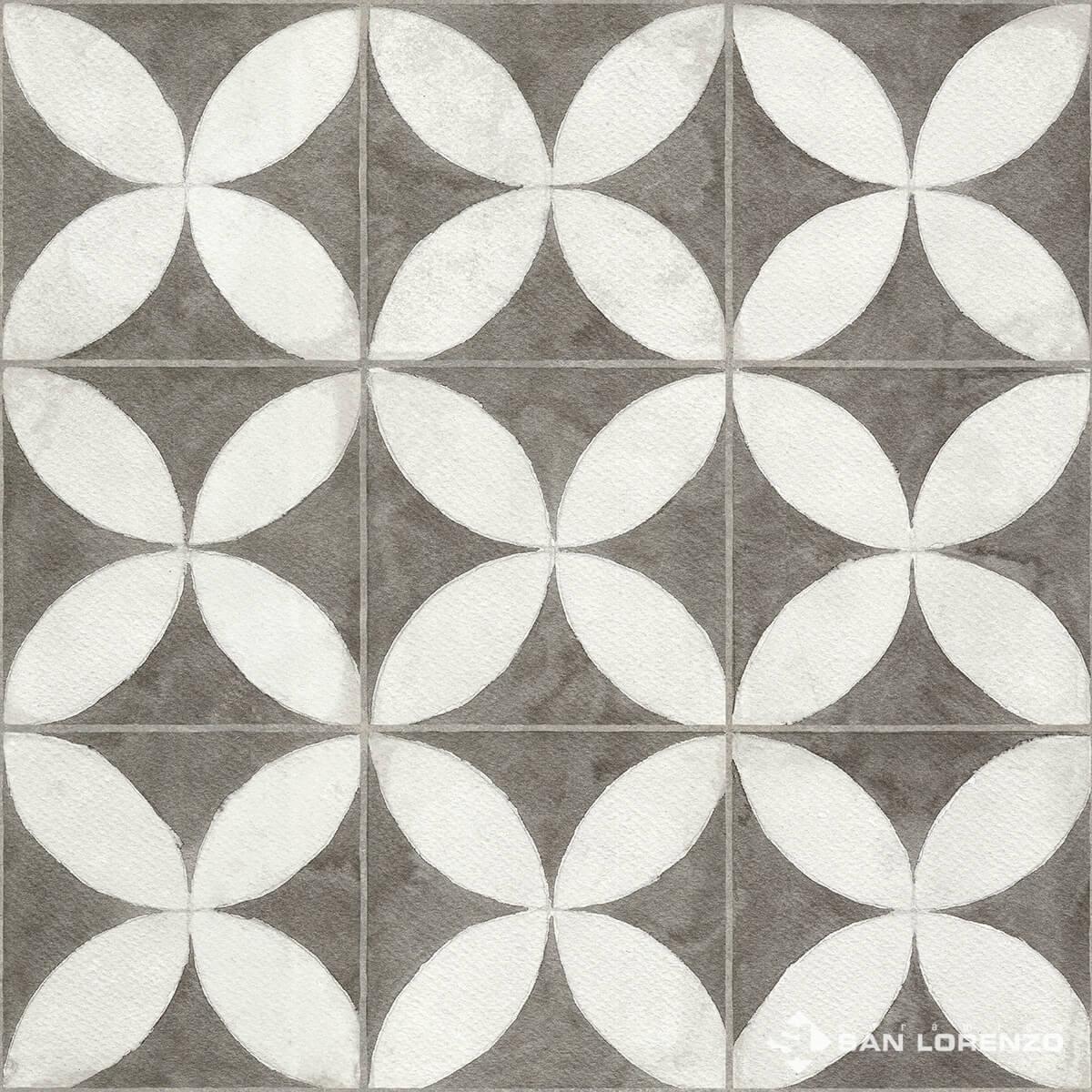 Ceramico San Lorenzo Flower White 45,3 X 45,3 Cj. 2,05 M2
