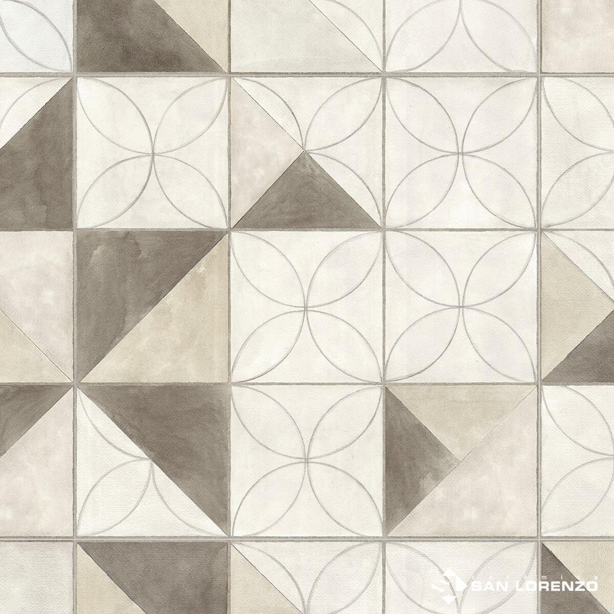 Ceramico San Lorenzo Flower Overlap 45,3 X 45,3 Cj. 2,05 M2