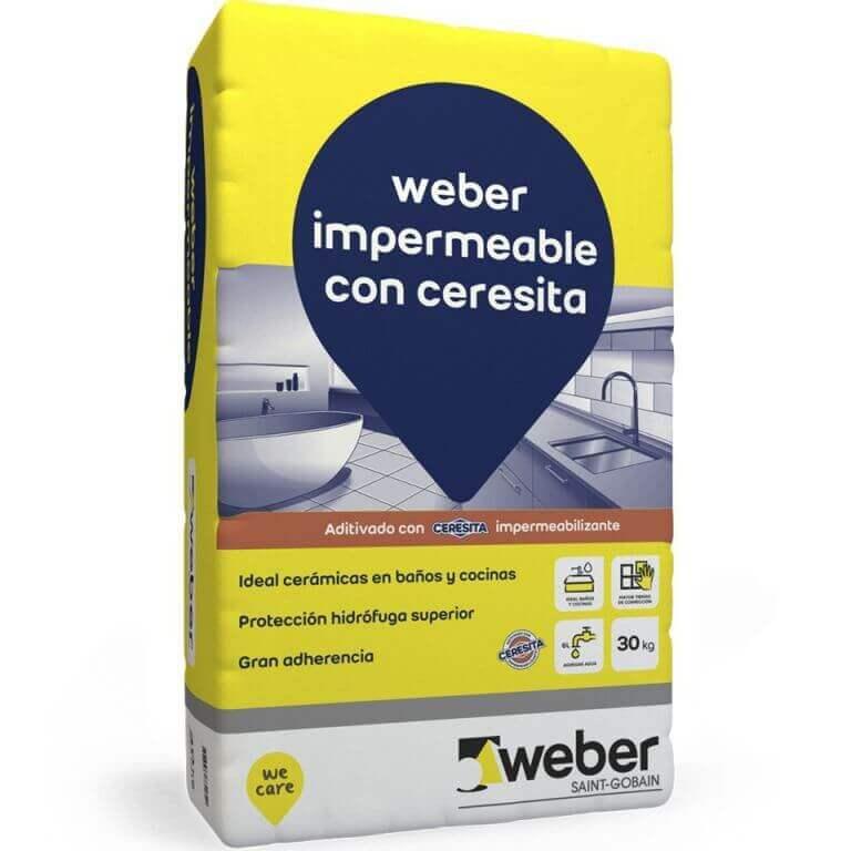 Pegamento Weber Impermeable con Ceresita x 30 Kg