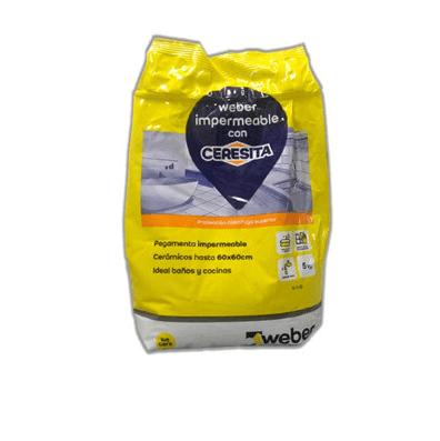 Pegamento Weber Impermeable con Ceresita x 5 Kg