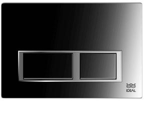 Tecla Dual Ideal Linea Melodia Cromo Brillante 80130
