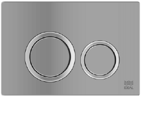 Tecla Dual Ideal Linea Ritmo Cromo Mate 80020