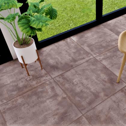 Ceramico Cortines Pavimenti Terra 50 X 50 Cj 1,75 M2