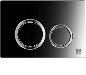 Tecla Dual Ideal Linea Ritmo Cromo Brillante 80030