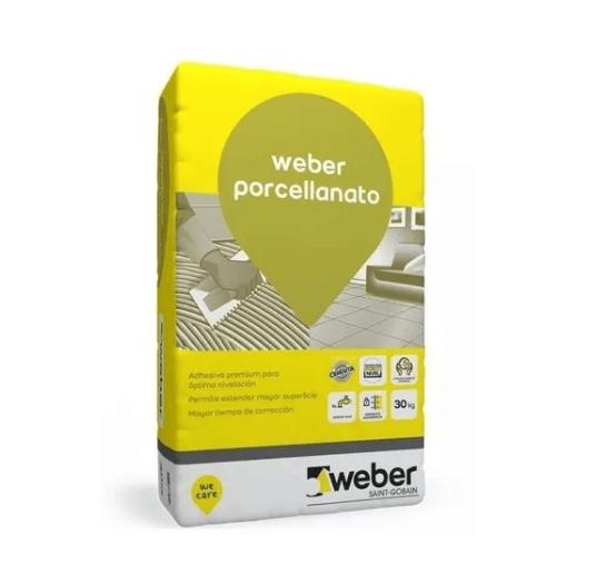 Pegamento Weber Porcellanato x 30 Kg
