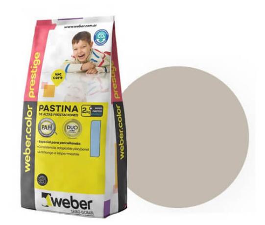 Pastina Prestige Weber  X 2 Kgs. Ceniza