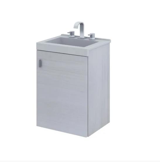 Vanitory Schneider Terra Basic 40 cm Colgante Blanco Texturado