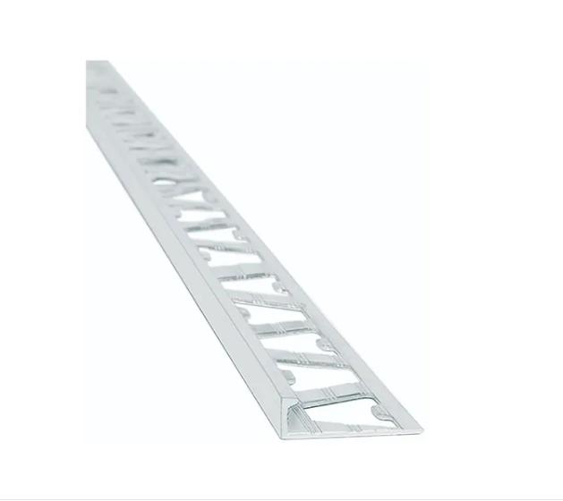 Guardacanto Quadra 1421 Cromo Brillante  10 mm x 2.50 m Aluminio