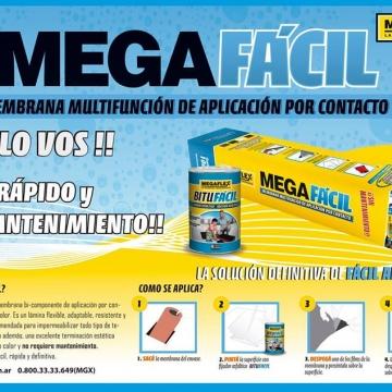 Membrana Megaflex Megafacil Con Bitufacil X 10 Mts