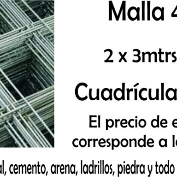 Malla De Hierro 15 X 15 2 X 3 Mts 4 mm Q 84 Mini