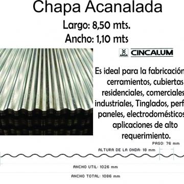 Chapa Cincalum  8,5 Mt