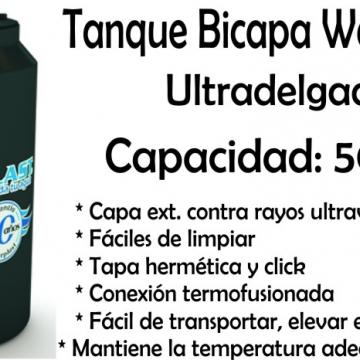 Tanque de Agua Bicapa Ultradelgado 500 Lts Waterplast
