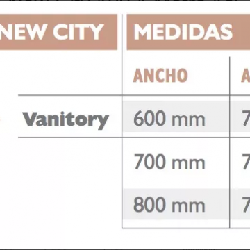 Vanitory Water Van City New 70 Con Mesada Loza Wengue Y Blanco