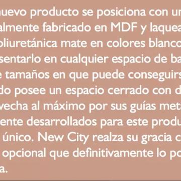 Vanitory Water Van City New 60 Con Mesada Loza Wengue Y Blanco