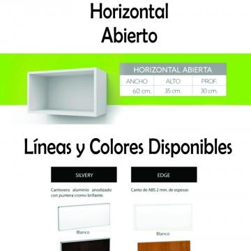 Alacena Abierta Itar Horizontal 80 Cm